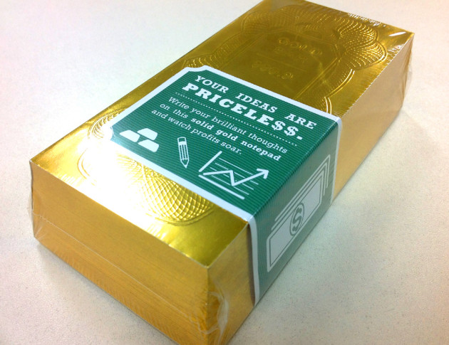 金塊ゴールドバーメモ