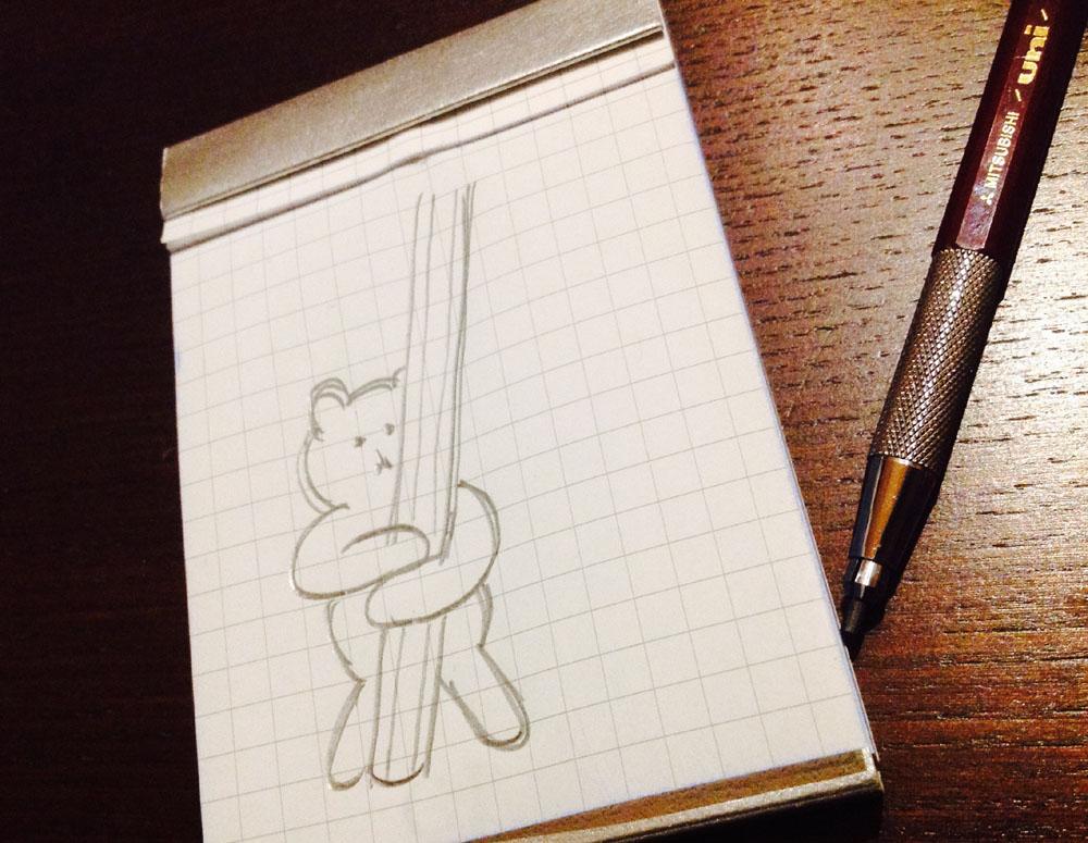 【妄想文具/クマビスケット】あのクマさんが鉛筆抱っこしてたら、、、