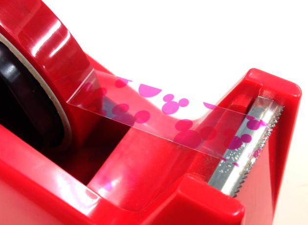 ミッキー柄のピンクのセロテープ