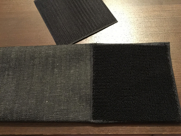 マジックテープを縫い付ける