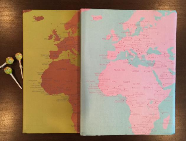 世界地図のノート