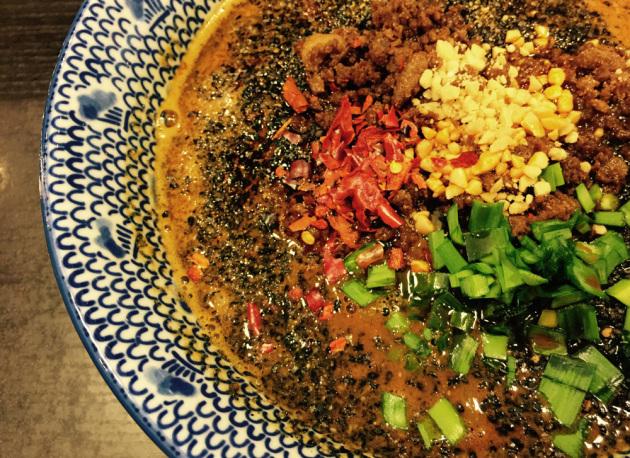 萬力屋の黒胡麻担々麺