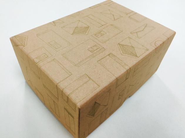 ハグルマ封筒の箱がかわいい