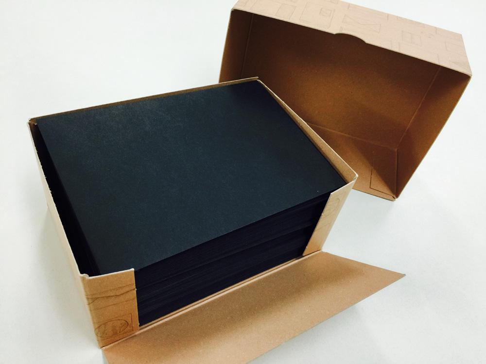 【ハグルマ封筒/洋2カマス封筒コニーカラーブラック】箱がまずかわいいんだもんなー。
