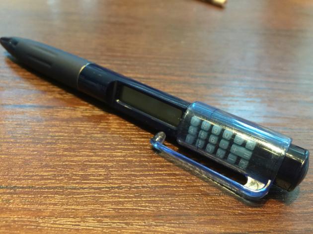 電卓付きペン