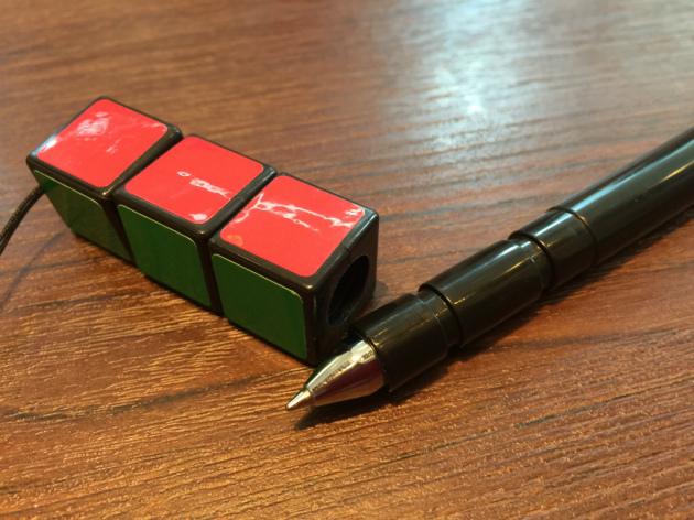 ルービックキューブペンの鍵