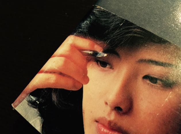 山口百恵『蒼い時』帯写真