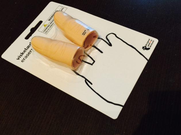 フライングタイガーの指消しゴム
