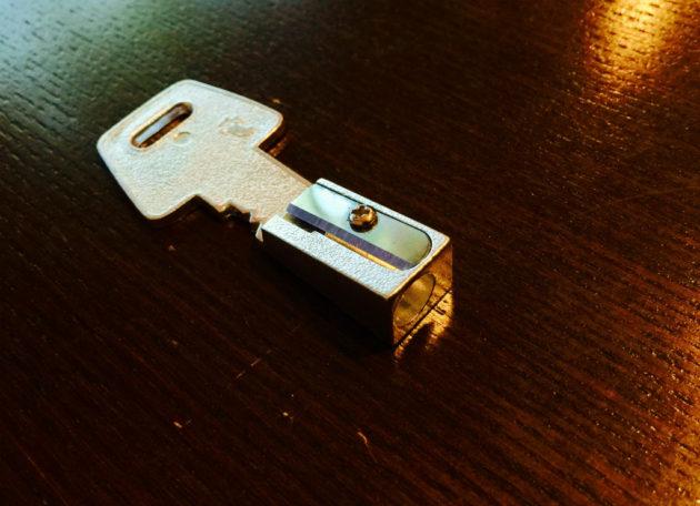 フライングタイガーの鍵の鉛筆削り