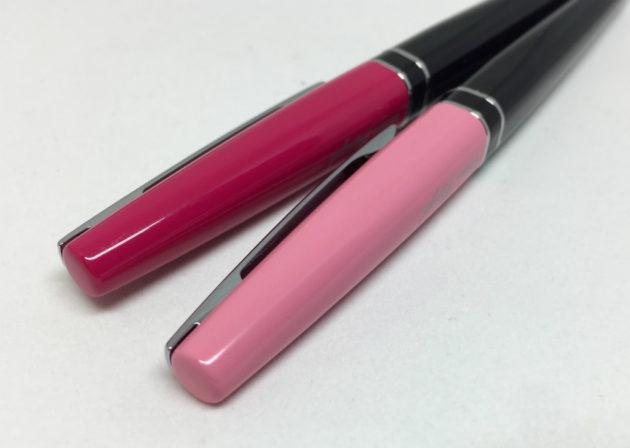 ルージェルのピンクとローズピンク