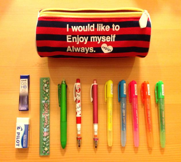中学1年生の筆箱