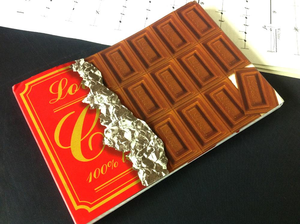 【100円ショップ?/チョコレートメモ】なにげない置き場所に騙された。