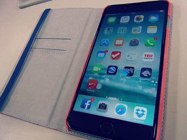 iPhone6plusの手帳型ケース