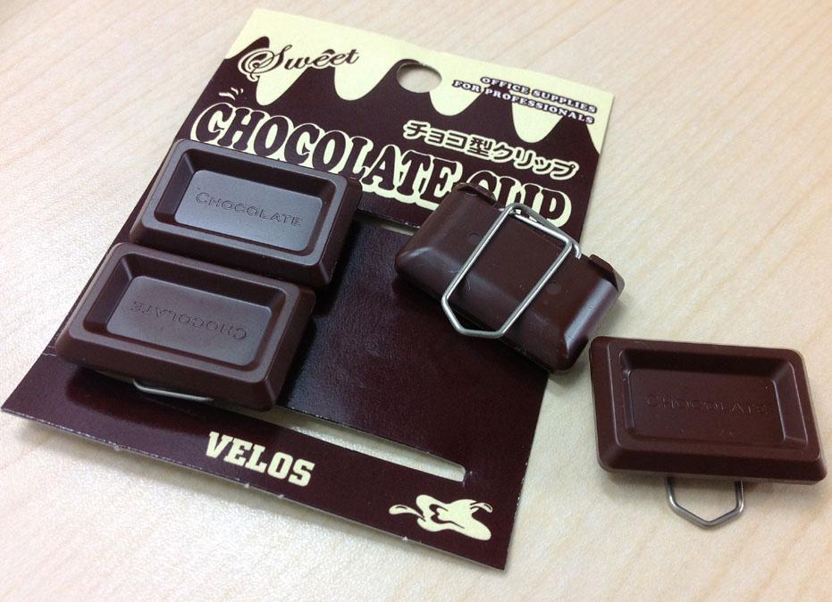 【VELOS/チョコ型クリップ】チョコ文具の魅力。実はあの有名人もチョコ型小物ファン。