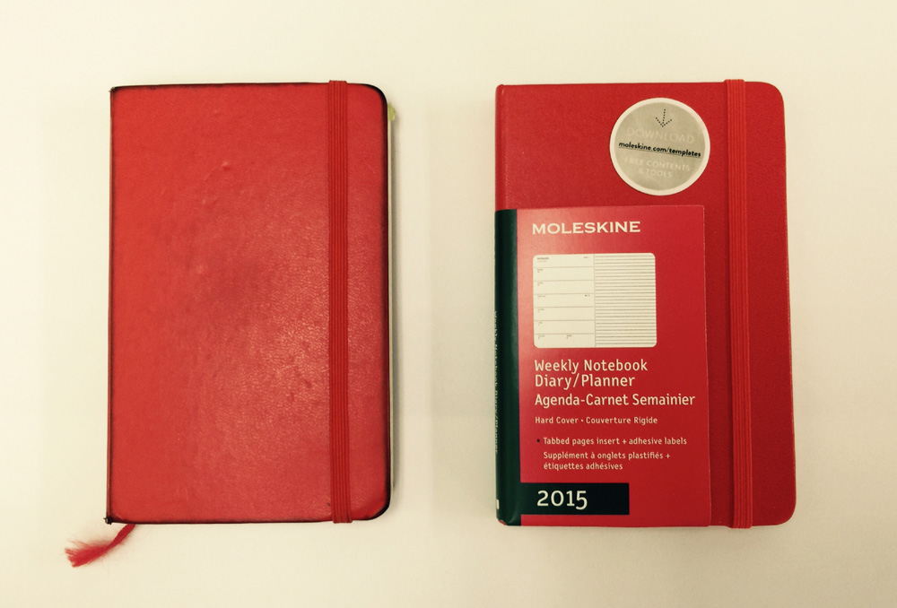 【MOLESKINE/Weekly Notebook 2015】結局来年の手帳も赤のポケットサイズ、6年目のモレスキン。