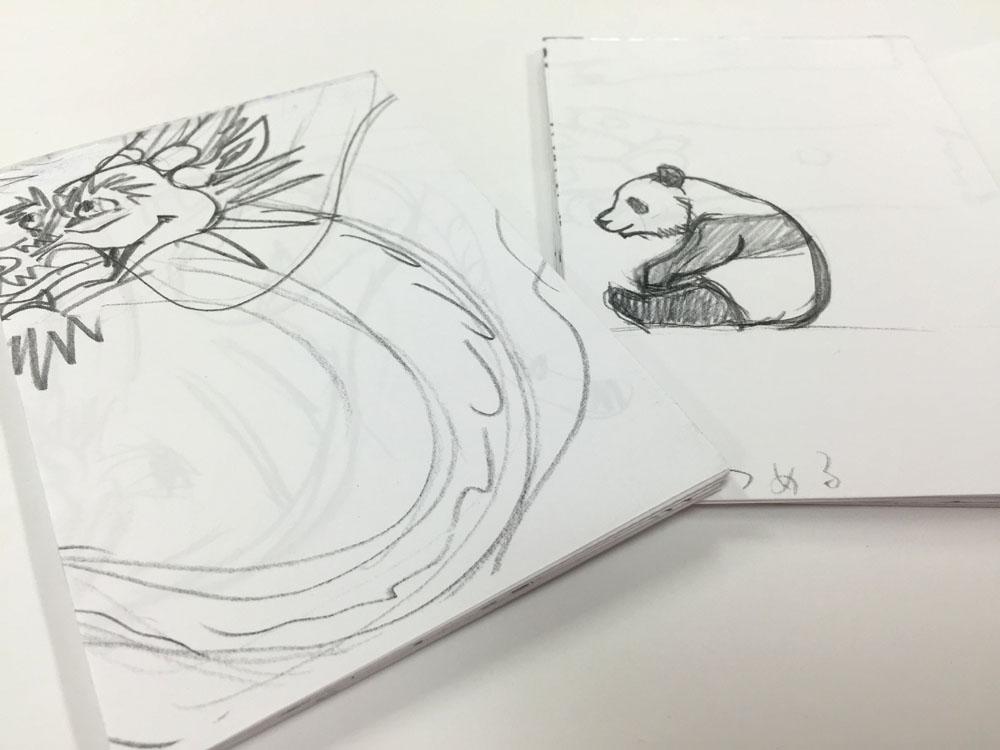 【馬塲稔郎さんのメモ帖】彫刻家の設計図の裏紙でできたメモ用紙はもちろん一点もの!