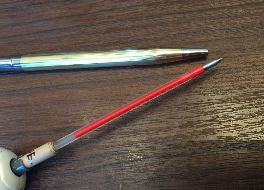 【CROSS/frixion】改造ペン:クロスの軸にフリクションのリフィルが入らないとお嘆きの貴兄に。