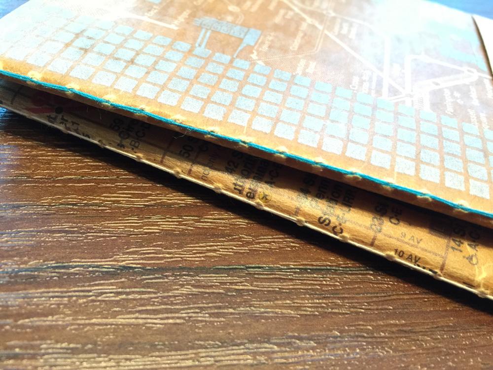 【山本紙業/蝋引きノート新柄】ご法度とお洒落の絶妙なバランス
