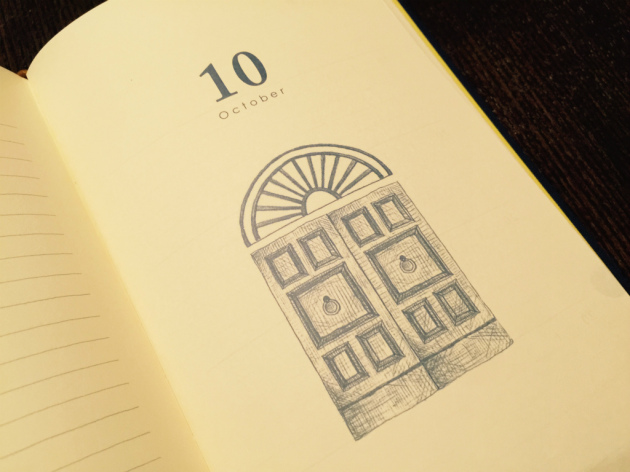 10年日記10月の扉