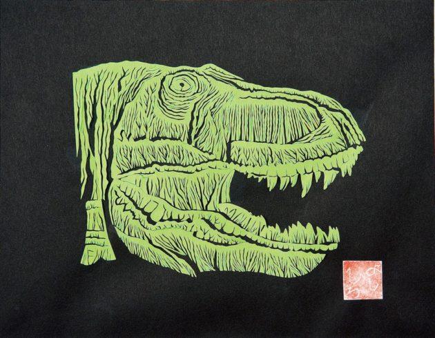 渡邊義紘さんの恐竜の切り絵