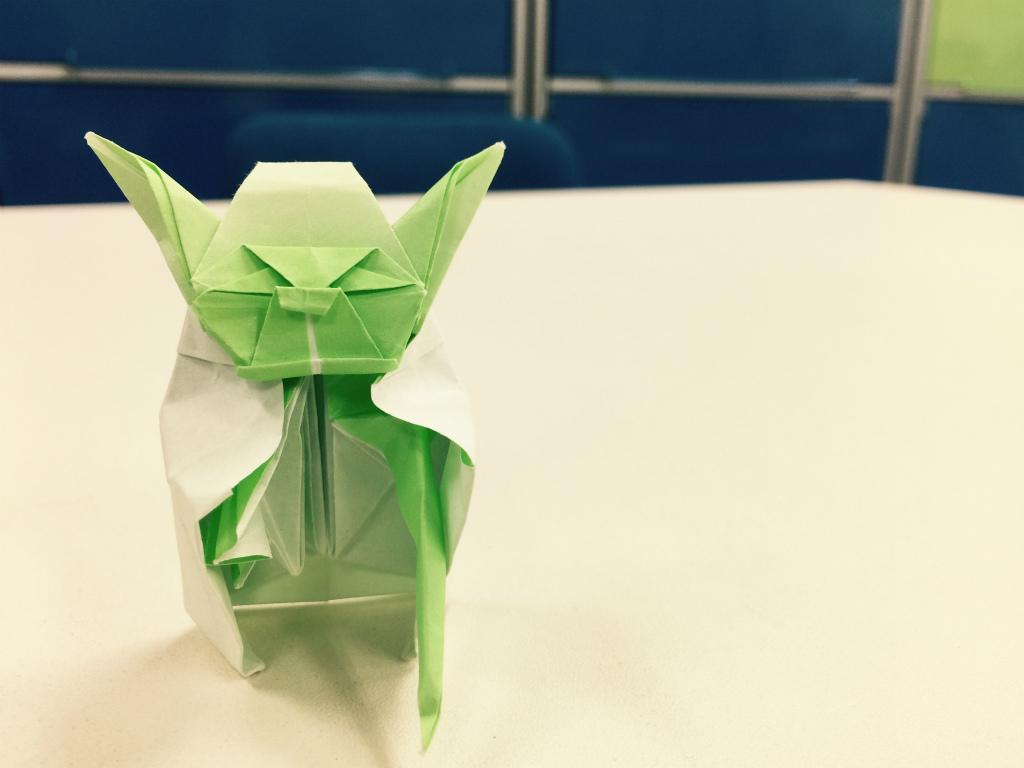 【折り紙/ヨーダ】サラッといただいたヨーダの折り紙が、なんと30分もかかると知ってのけぞる。
