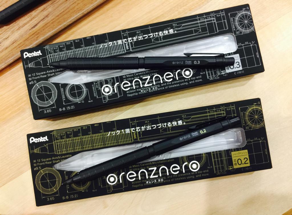 【ぺんてる/orenznero(オレンズネロ)】折れない、極細、自動芯出し、マットブラック。オレンズシリーズの最高峰モデルをレポート!(前編)